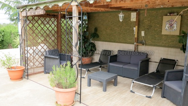 Covered seating area