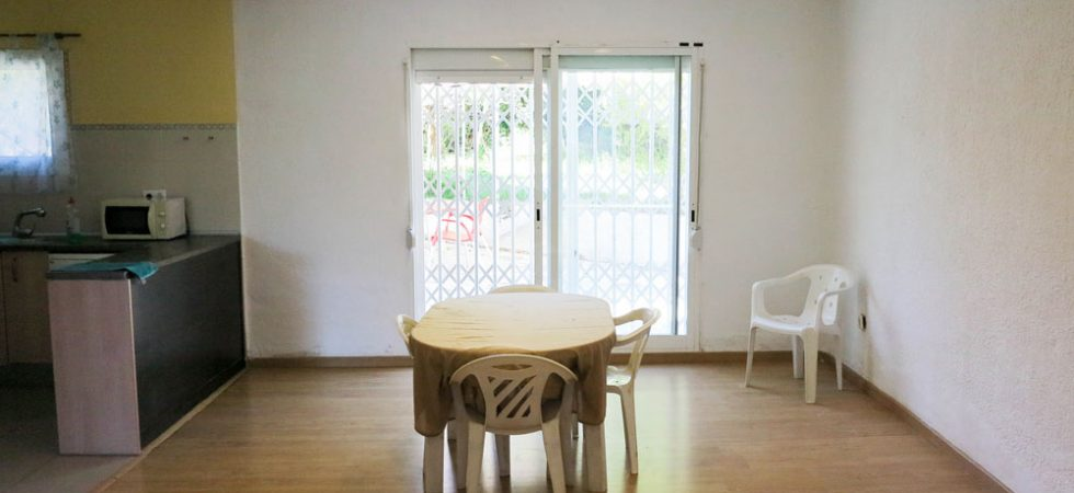 Dining area With doors to rear terrace