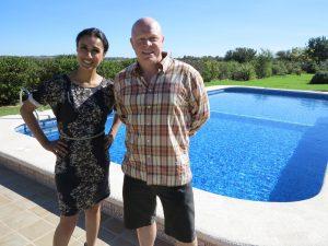 Simon Creed and Anita Rani