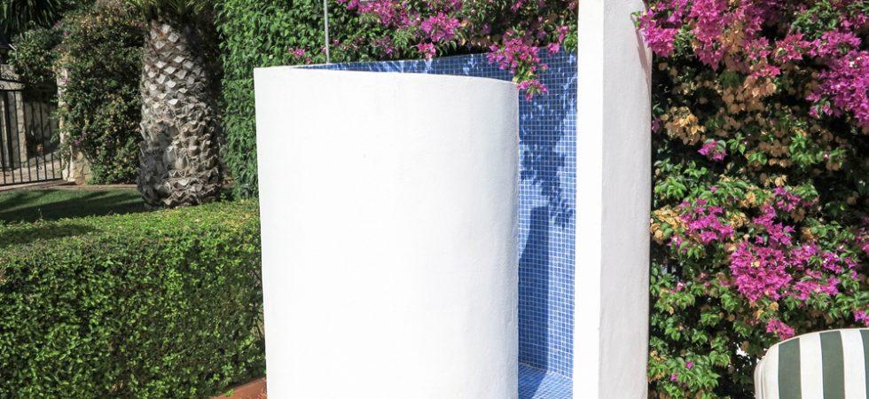 Pool-side shower