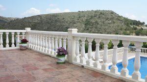 First floor Balcony terrace - 21m²