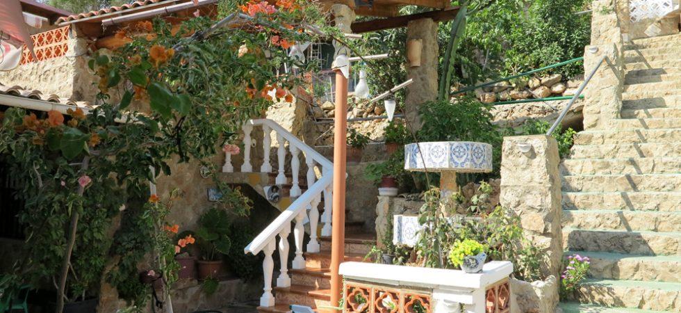 Staircase to studio apartment