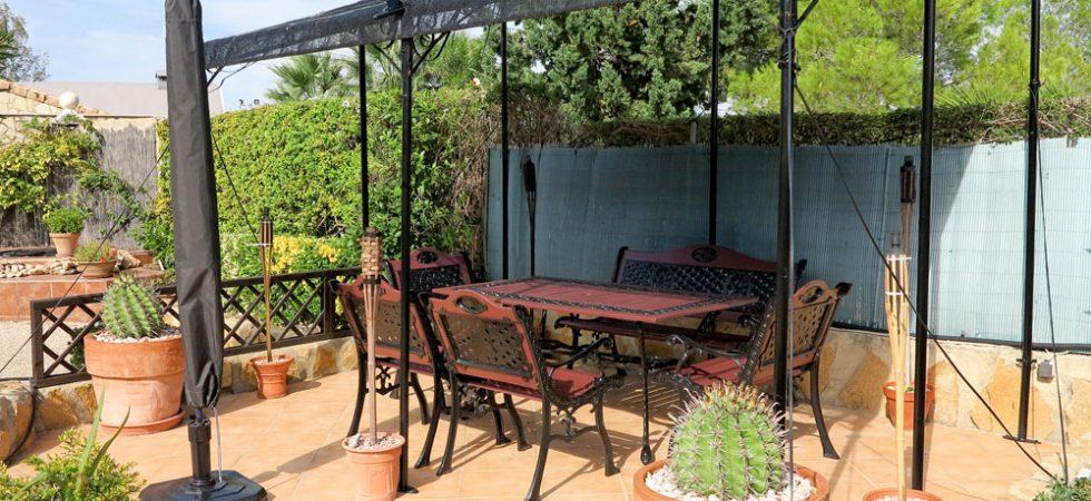 Gazebo covered terrace