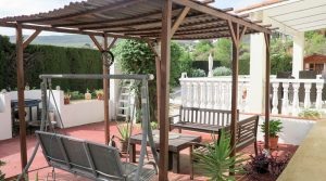 Barbecue seating area