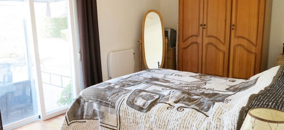 Bedroom 1 With doors onto terrace