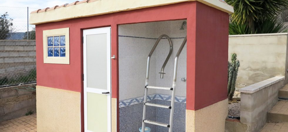 Pool changing room - 3m²