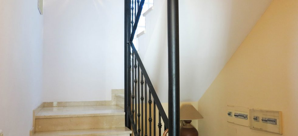 Marble staircase up to first floor