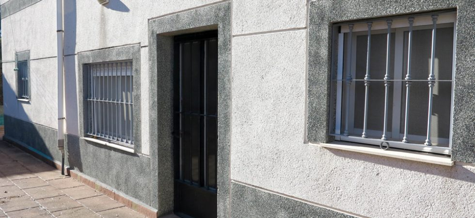 Side door onto terrace