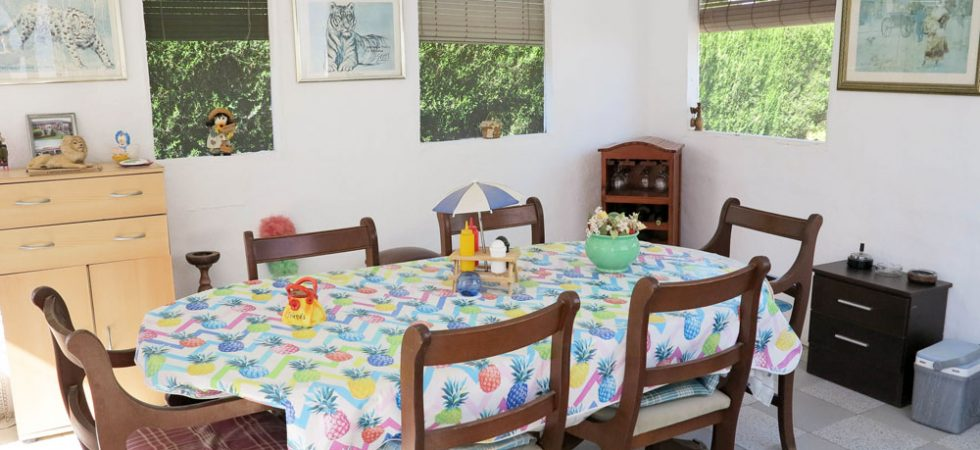 Outside dining room - 15m²