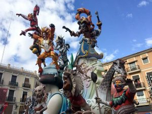 A Falla in Valencia city