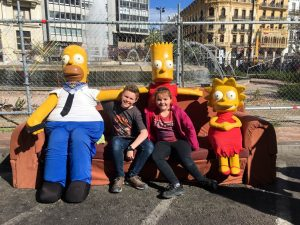 The Simpsons at Las Fallas 2019