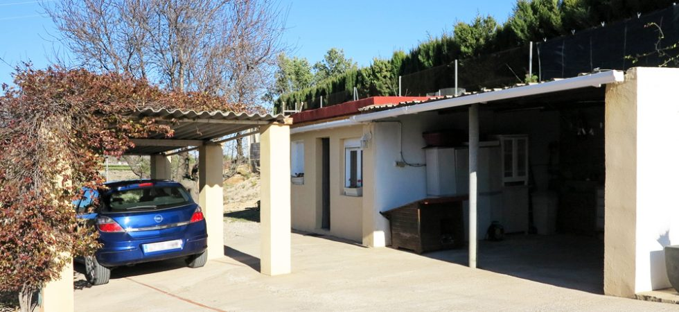 Carport & covered storage area