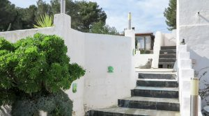 Staircase to roof terrace